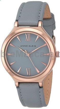 Anne Klein Womens AK/1846RGGY Rose Gold-Tone and Grey Leather Strap Watch #lingerie #gifts #forher #her #valentines #valentinesday #ladies #female #outfit #morning #ideas #dressingup #erotic #valentinegift