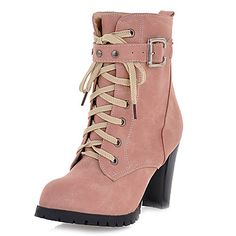 Women's Chunky Heel Combat Ankle Boots(More Colors) – USD $ 34.99