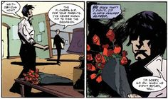 batman & nightwing: bloodborne bruce sends dick flowers every year on his parent's death anniversary. shh, it's okay to cry.