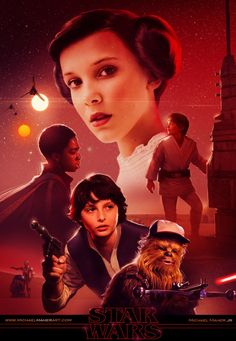 Fantastic Stranger Things and Star Wars Crossover Art by Michael Maher #strangerthings