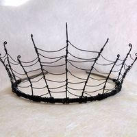 ~Cobweb tiara~  Easy to make with a simple wire headband and black 26 or 28 gauge wire.