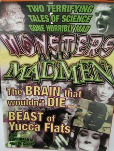 Monsters & Madmen Classic Horror Double Feature Plus Superman Arctic Giant New