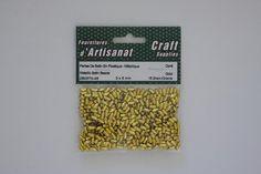 ZB057N-45 Satin Beads 3 X 6 mm. Gold Metallic 15 Grams