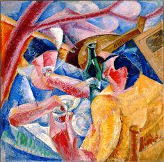 Sotto il pergolato a Napoli, Umberto Boccioni (1914). museo novecento