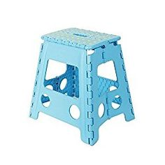 KARMAS PRODUCT Super Strong Folding Step Stool-15 In Portable Carrying Handle for Adults and Kids.Great for Kitchen Blue