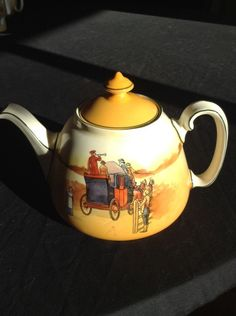 Royal Doulton Coaching Days Scene Series Ware Teapot Very Rare Vintage Antique | eBay