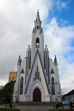 Igreja Matriz Cristo Rei de Bento Gonçalves, estado do Rio Grande do Sul, Brasil.