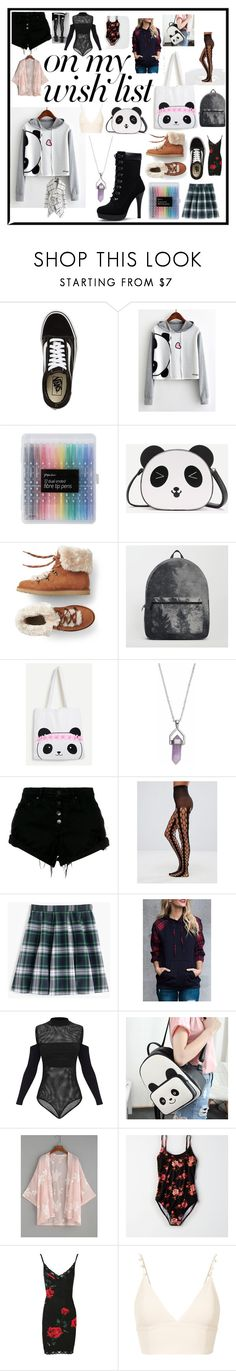 """#PolyPresents: Wish List"" by emmas388 ❤ liked on Polyvore featuring Vans, WithChic, Healing Stone, Nobody Denim, ASOS, J.Crew, American Eagle Outfitters, Nasty Gal, nk and Chicwish"