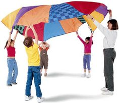 Kids Parachute Activity Game - Great for family picnics too, nothing like memories to last a life-time! - http://www.mountainside-medical.com/products/Kids-Parachute-Activity-Game.html