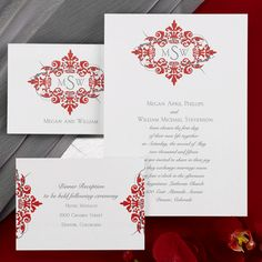 2017 Wedding Trend Red Invitations From Occasions In Print