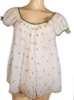 1950s Babydoll Nightie Set
