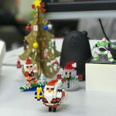 My Christmas Corner  #nanoblock #santaclaus #snowman #christmastree #christmas #instafun #instagood #hkg #hkig #buzzlightyear