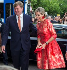 King Willem-Alexander and Queen Maxima of The Netherlands arrive to attend the opening of Holland Festival on June 4 2016 in Amsterdam Netherlands.