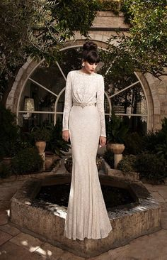 Wholesale cheap modest wedding dresses With sleeves online, 2015 spring summer - Find best q157-R custom made 2015 modest wedding dresses With long sleeves backless floor length plus size elegant vestido de novia bridal gowns cheap at discount prices from Chinese mermaid wedding dresses supplier on DHgate.com.