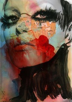 siracusa | Vincenzo Rizzo #Illustration #collage #mixed_media | via tumblr | http://www.etsy.com/listing/62383255/painting-large-print-inch-28x20?ref