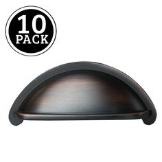 Oil Rubbed Bronze Kitchen Cabinet Pulls - 3 Inch Bin Cup Drawer Handles 10 Pack #Ilyapa