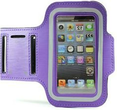 """myLife Bright Purple + Sable Black {Rain Resistant Velcro Secure Running Armband} Dual-Fit with Key Slot Jogging Arm Strap Holder for Sony Xperia Z2 and Z3 """"All Ports Accessible"""" myLife Brand Products http://www.amazon.com/dp/B00UM4MUUW/ref=cm_sw_r_pi_dp_pWbjvb0AWF06C"""