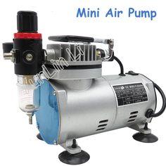 220V 23-25 L/min 1/5Hp Small Electric Piston Vacuum Pump Airbrush Compressor MS18-2