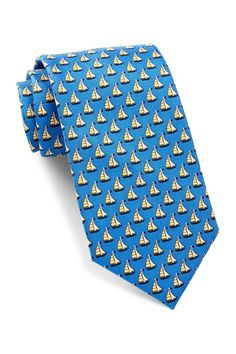 Silk Sailboat Tie
