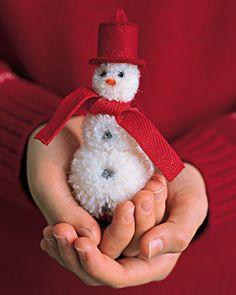 10 cool diy snowman christmas tree ornaments5