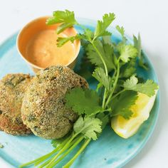 Cheat louisiana crab cakes with red pepper mayonnaise