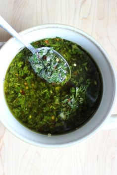 This South American sauce adds zing to grilled steaks and spicy sausages. http://recipes.oregonlive.com/recipes/chimichurri