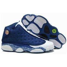 http://www.anike4u.com/ Air Jordan 13 XIII Retro Mens Shoes in Blue White