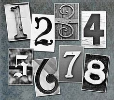 Wedding Table NumbersSet of 20 4x6 Number Cards by senterstudios, $38.00