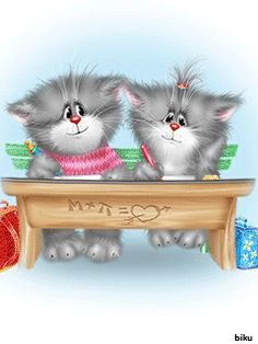 Коты Алексея Долотова — Yandex.Disk Kitten Cartoon, Cute Cartoon, I Love Cats, Cool Cats, Cute Images, Cute Pictures, Kittens Cutest, Cats And Kittens, Image Chat