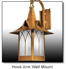 Wall Mount Handmade English Country Cottage Lighting - Whimsical, Storybook, Bungalow, Tudor, Shingle Style Craftsman Lanterns