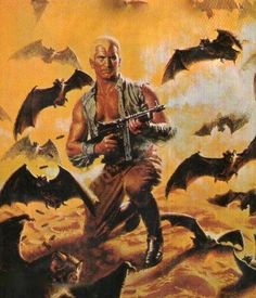 DOC SAVAGE, THE LOST OASIS Bantam cover original painting, Doug Rosa