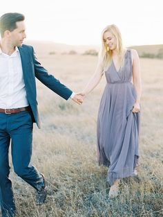 Blue suit and and flowy gray blue chiffon dr… Perfect engagement session outfits! Blue suit and and flowy gray blue chiffon dress. Engagement Photo Outfits, Engagement Photo Inspiration, Engagement Couple, Engagement Session, Engagement Photos, Engagements, Country Engagement, Winter Engagement, Beach Engagement
