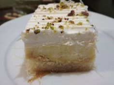 Greek Sweets, Greek Desserts, Greek Recipes, Food Network Recipes, Cooking Recipes, The Kitchen Food Network, Keto Cheesecake, Vanilla Cake, Food And Drink