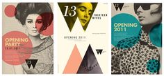 Sixties vibe fashion posters