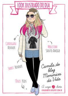 Outfit of the day illustration Camila Rech - Blog Meninices da vida