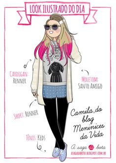 Outfit of the day illustration Camila Rech - Blog Meninices da vida