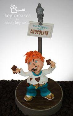 Be Happy Eat Chocolate  - Cake by Nicola Keysselitz
