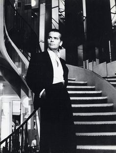 1983 - Karl Lagerfeld by Helmut Newton in the Chanel stairs