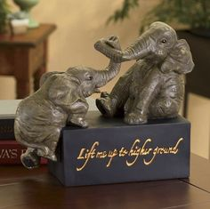 Higher Ground Elephant Figurine from Seventh Avenue ® | DI76927 - reminds me of Tasha Isberner