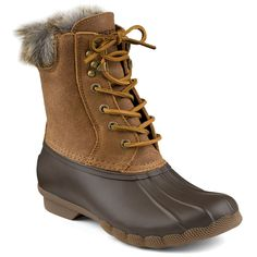 Women's White Water Duck Boot in Brown by Sperry
