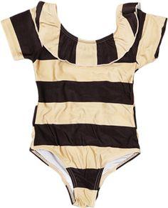 Chic Stripe SS Swimsuit by Mini Rodini www.shanandtoad.com