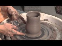 Ceramic Arts Daily – How to Throw a Curvy Cup and Finish it Without Trimming - Some good Centering suggestions and tips throughout the video