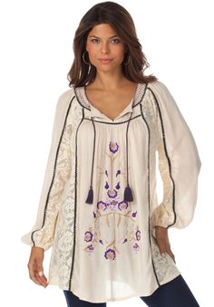 Women Plus Boho Clothing Boho Tunic Plus Size Tunics