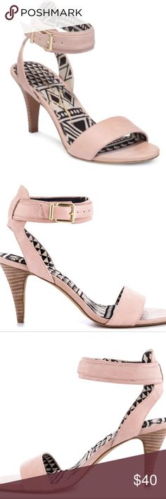 Erikk Pale Pink Sandals by Jessica Simpson #Erikk #pale #pink #Nappa #sandals by #jessica #simpson. Show off your edge in a subtle way with the Erikk by Jessica Simpson. This lower 3 1/4 inch #heel is accented with a pale pink #leather and thick ankle strap. So #cute for that #Summer dress!! Jessica Simpson Shoes Sandals