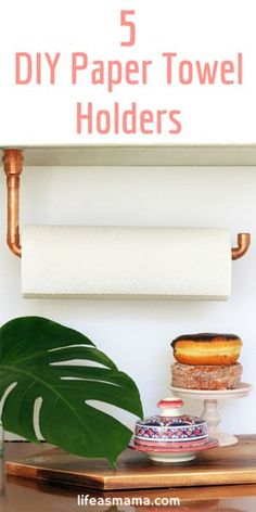 Looking for some unique solutions to hold your paper towels? Forgot those generic, store-bought options! These holders are totally fun and a great DIY project!