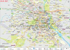 Delhi Map - Explore city map of Delhi ( Capital of India ) to view railway routes, roads, metro route, national highways, airports, stadiums, museums, hotels, hospitals and more.