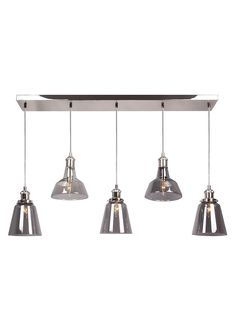 Illuminate your living space in style with this striking staggered cluster pendant. Providing an interesting height range, this statement light features...