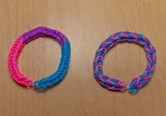 Bi Pride Flag Loom Bracelet from AeronMadeThis on Etsy