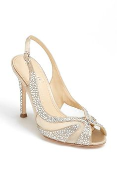 Sparkle down the aisle in sandals with crystals.