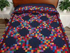 Трехместный Ирландский Сеть Одеяло - великолепный бойко сделал амишей одеяла из Ланкастера (hs3476)